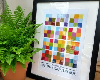 Colours of the British Countryside - signed poster print