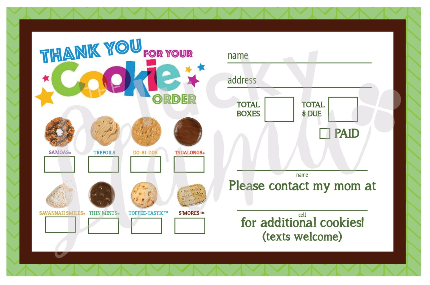 Girl Scout Cookie Thank You Coloring Pages