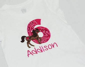 Horse Birthday Shirt - Cowgirl