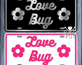 Love Bug VW Volkswagen Accessory Beetle License Plate Car Tag