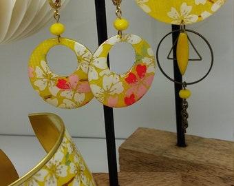 Yellow cherry blossoms