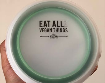 Collapsible To Go Container - Eat All The Vegan Things