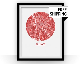 Graz Map Print - City Map Poster