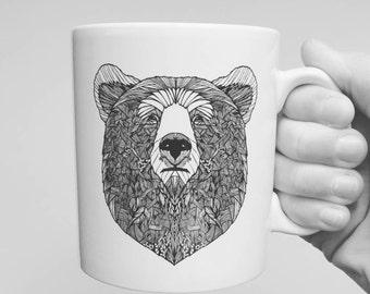 Illustrated Bear mug.