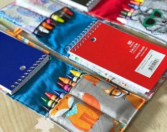 Crayon Roll, Kids Art Set, Kids Drawing Set, Crayon Holder, Stocking Stuffer, Crayon Wrap, Toddler Toy, Childrens Art Set, Christmas Gift