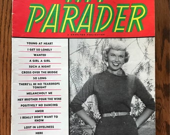 DORIS DAY on the Cover, June 1954 Hit Parader Song Magazine, Gift Idea