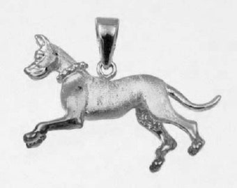 RUNNING GREAT DANE Charm in 925 Sterling Silver 24-8