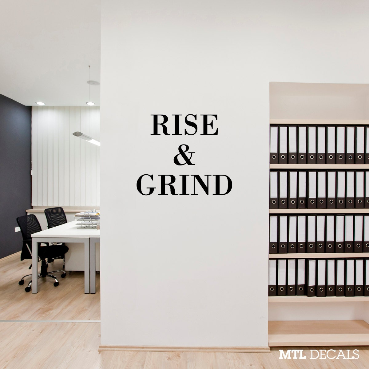 RISE & GRIND Wall Decal Removable Wall Sticker Home Decor