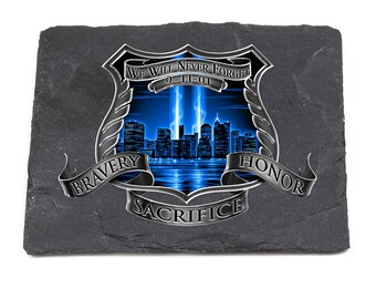 Police Natural Stone Coasters - After Math 911 Police SKU: FF2092-SC100