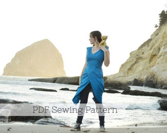 Daenerys Sewing Pattern - PDF Targaryen Costume, Game of Thrones, Dress, khaleesi, Halloween, Cosplay, Mother of dragons, Blue