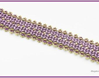 DIY Pulsar bracelet tutorial. Superduo beads and swarovski bracelet