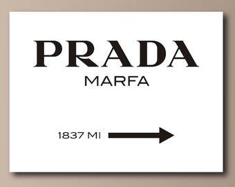 Prada Marfa Black on White Canvas Print - Gossip Girl
