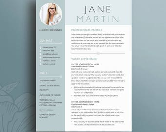 Creative Resume Template 18 | Clean, Professional U0026 Modern CV | Instant  Download | Microsoft