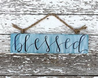 Custom Mini Blessed Wood Sign