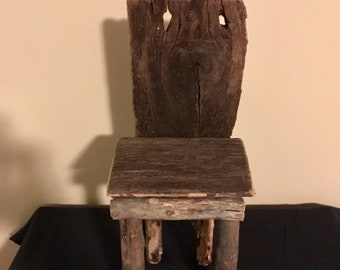 Little Rustic Doll Chair
