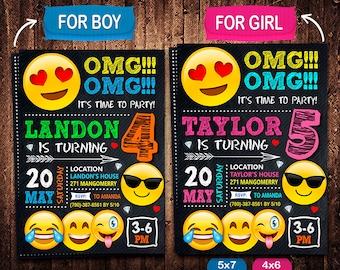 Emoji Invitation, OMG Invitation, Emoji Invite, OMG Invite, Emoji Birthday, OMG Birthday, Emoji Party, Emoji Printable, Emoji Card