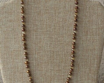 Pearl and Crystal Necklace- One of a kind