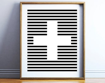 Modern printable wall poster - scandinavian print - printable wall art - printable poster - black and white art - minimalist POSTER DOWNLOAD