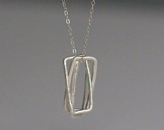 Triple Threat: Rectangles | Fine & Sterling Silver Necklace
