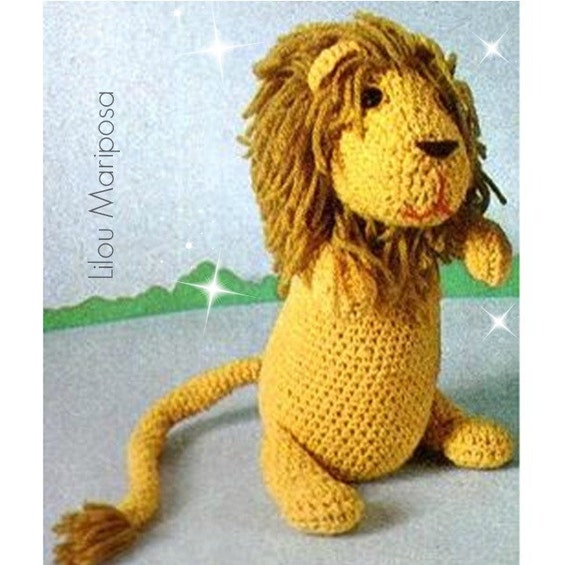 Patron pdf de tejido en crochet juguete LEON juguete para