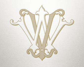 Custom Bridal Monogram - VW WV - Bridal Monogram - Vintage