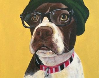 8x10 Custom Pet Portrait Acrylic Painting