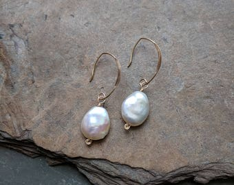 Freshwater Pearl Modern Drop Earrings