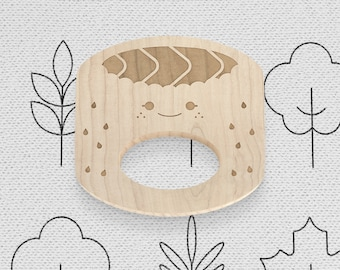 Maki Natural Wooden Teether