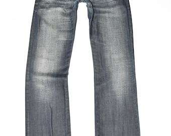 "Blue Denim JACK&JONES Straight Leg Stonewashed Men's Jeans Size W28"" L32"""