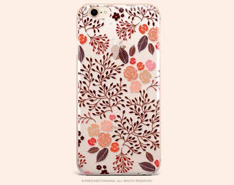 iPhone 8 Case iPhone X Case iPhone 7 Case Fall Floral Clear GRIP Rubber Case iPhone 7 Plus Clear Case iPhone SE Case Samsung S8 Case 271