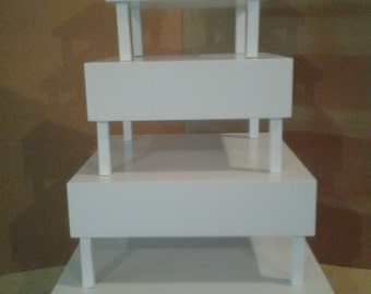 Convertible Cupcake Stand With Removable Legs. MANY Configuration Possibilities - Holds up to 120 Cupcakes