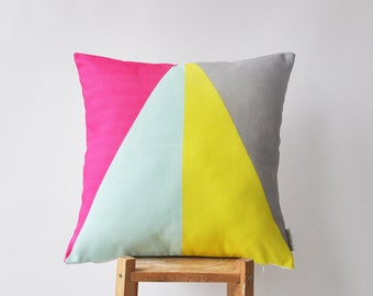 "Decorative Pillows, Throw Pillow, Cushion Cover, Scandinavian Pillow Cover, Nursery Pillow Cover,  Modern Kids Pillow Cover 16"" x 16"""