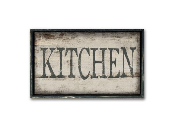Kitchen wooden sign decor wall art restaurant