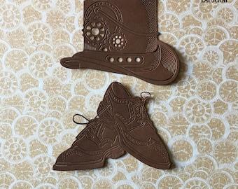 lot cutouts scrapbooking scrap Hat gear steampunk cutting paper decoration die cut embellishment wedding shoes