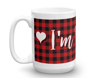 I'm Bossy Mug, I'm Bossy Cup, I'm Bossy Plaid Mug, I'm Bossy Quote, Quotes For Her, She's Bossy Mug, Gift Ideas