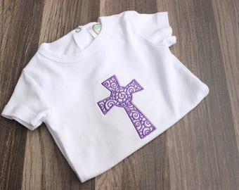 Cross Onesie - Baptism Bodysuit - Baptism Outfit - Cross Baby Bodysuit - Baby Bodysuit - Little Girl's Bodysuit - Baby Gift Idea