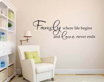 More Colors. Family Wall Decal ...