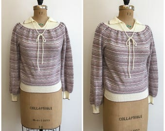 1970s Designations Collar Pullover Sweater 70s