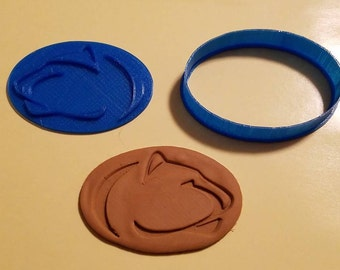 Penn State Nittany Lion Cookie Cutter with Detail Impression Disc/Fondant/Candy/Soap Cutter