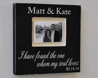 Bridal Shower Gift, Wedding Gift, Engagement Gift, Custom Wedding Sign, Photo Frame