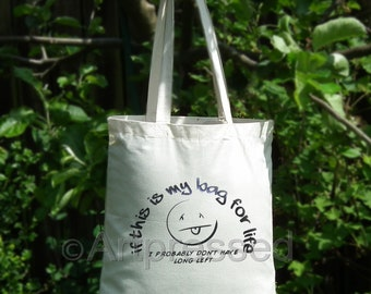 Novelty Cotton Tote/ Shopping/Craft/project Book Bag /Gift/Birthday