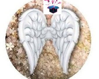 1 cabochon clear size 10 mm Angel theme