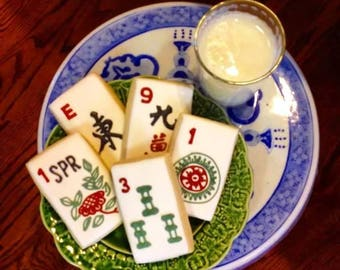 MahJong Cookies ~ One Dozen