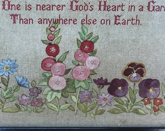 Gardener's prayer vintage picture wall hanging