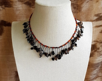 Agate and Carnelian Necklace.
