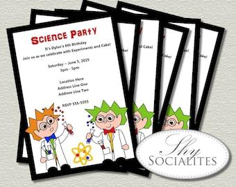 Science Party Printable Invitation | Science Birthday Party, Science Party, Scientist, Lab Experiment | DIY Printable Digital File