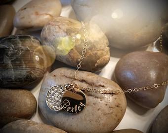 Bezel Disc Charm Necklace