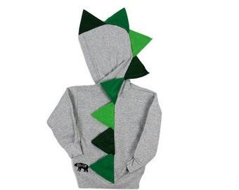 Baby boy green dinosaur hoodie / baby boy birthday party / boy dinosaur costume / kids dinosaur hoodie / kids dino hoodie / dinosaur outfit