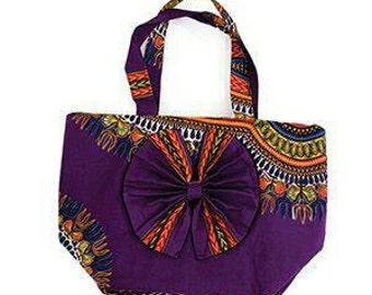 Dashiki Print Beauty-Bow Tote Bag