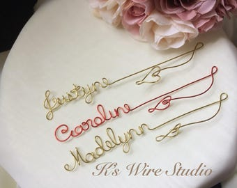 A Custom Wire  Bookmark, A Personalized Wire Name Bookmark with a heart, A Custom Bookmark Gift , Book Lover Gift, Unique Bookmark